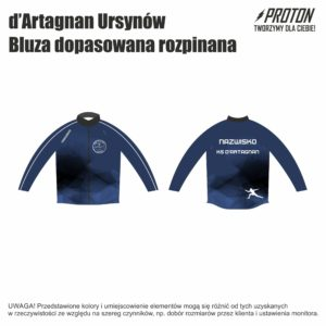 Bluza dopasowana rozpinana d'Artagnan Ursynów