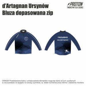 Bluza dopasowana zip d'Artagnan Ursynów