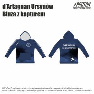 Bluza z kapturem d'Artagnan Ursynów