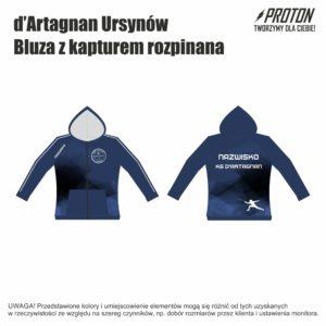 Bluza z kapturem rozpinana d'Artagnan Ursynów