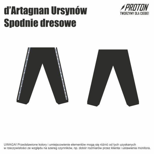 Spodnie dresowe d'Artagnan Ursynów