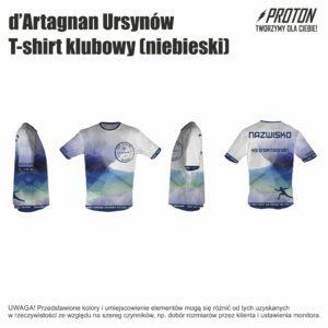 T-shirt klubowy niebieski d'Artagnan Ursynów