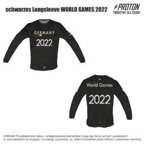 DFV schwarzes Longsleeve WORLD GAMES 2022
