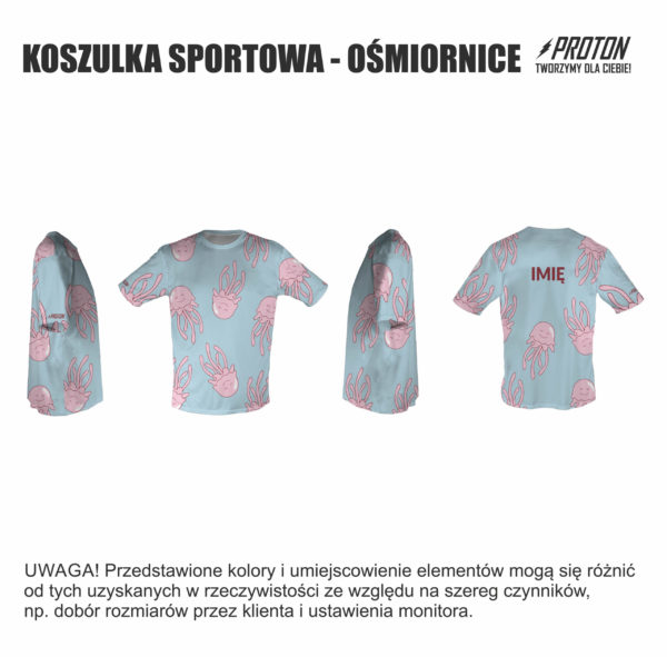 Koszulka sportowa ośmiornice