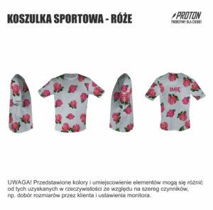 Koszulka sportowa róże