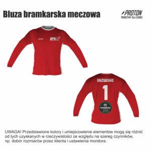 Akademia Piłkarska Dębiec bluza bramkarska meczowa