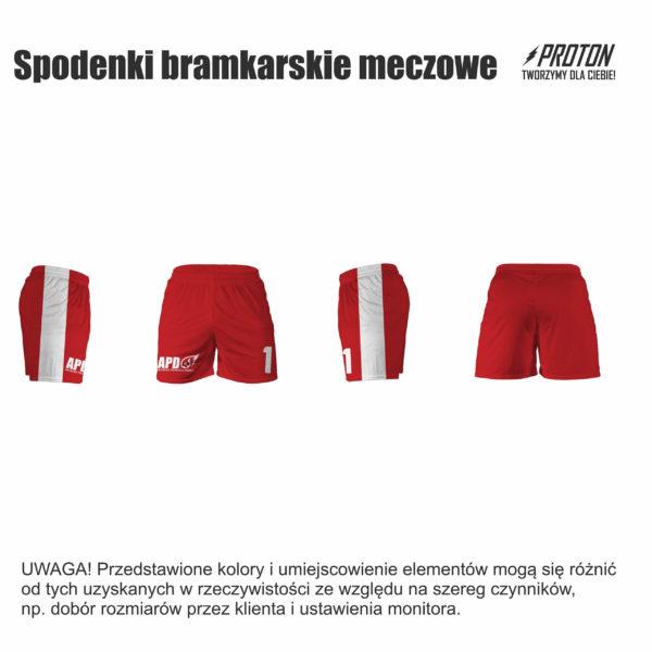 Akademia Piłkarska Dębiec spodenki bramkarskie meczowe