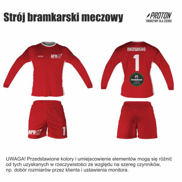 Akademia Piłkarska Dębiec strój bramkarski meczowy