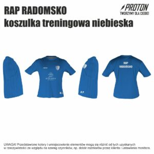 RAP RADOMSKO koszulka treningowa niebieska inicjały